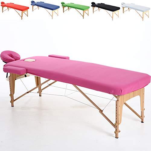 Beltom Baumwollüberzug für Massageliege 195 x 70 cm. - Pink