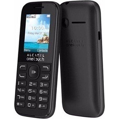 Alcatel OT-1052G One Touch 1052 Handy - schwarz - Bluetooth, VGA-Kamera für Fotos und Videos, Diktiergerät, Taschenlampe, Grosse Tasten (Seniorenhandy), microSD HC Slot bis 32GB, FM-Radio