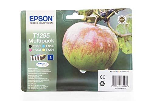 Epson WorkForce WF-7515 (T1295 / C 13 T 12954010) - original - Tintenpatrone MultiPack (schwarz, cyan, magenta, gelb) - 425 Seiten