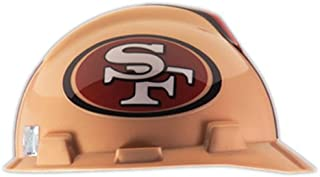 MSA 818409 Adult's San Francisco 49ers Football Logo Hard Hat One Size