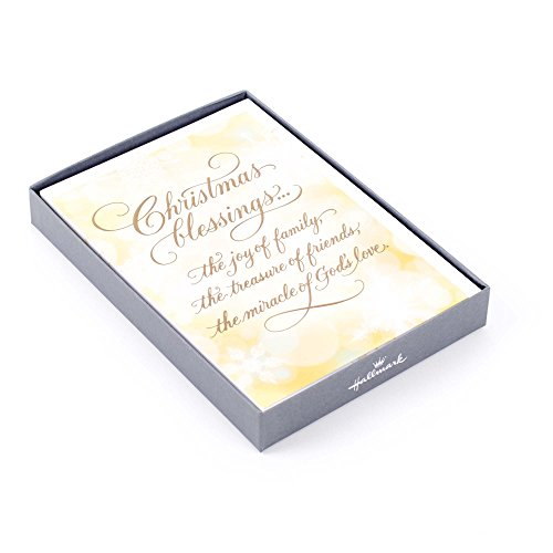 Hallmark Religious Boxed Christmas Cards, Christmas Blessings (12 Cards and 13 Envelopes)
