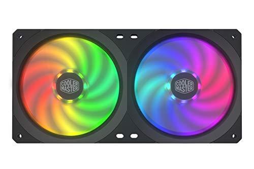 Cooler Master Masterfan SF240R ARGB, Ventilador PWM RGB Direccionable de 240 mm, Rodamiento de Ranuras, Diseño de Bastidor Integrado 2 en 1, Aspas del Ventilador Estáticas, Mejor Manejo de los Cables