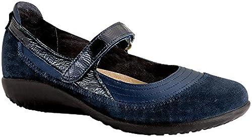 NAOT Footwear damen& 039;s Kirei Wide Maryjane Polar Sea Lthr Blau Velvet Suede Navy Patent Lthr - 42 W EU   11-11.5 B (M) US