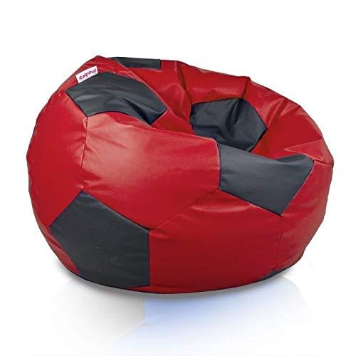 Italpouf - Puf de balón de fútbol Gigante. Puf de fútbol ecológico. Puf balón para Aficionados al fútbol.