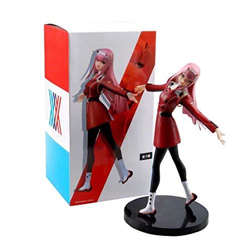 Zhongkaihua Figuras de Anime: Zero Two Darling In The FRANXX 02 Figuras coleccionables de Juguete de PVC Linda versión Q Pretty Girl Hecho a Mano Modelo de Escultura,Amantes del Anime Regalos