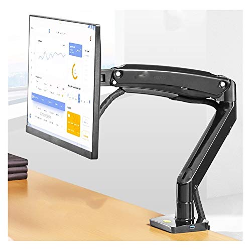 WWZZ Gas Resortes 22-35 Pulgadas Soporte de Monitor de Pantalla 3-12 kg 360 Grados Rotación Tilt Soporte Ergonómico Pantalla Instalación Blanco 2xusb3.0 Soporte de TV