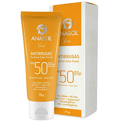 Anasol Protetor Solar Antirrugas Facial Oil Free Fps50 75g