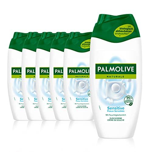 Palmolive Duschgel Naturals Sensitive 6 x 250ml - Cremedusche mit Feuchtigkeitsmilch
