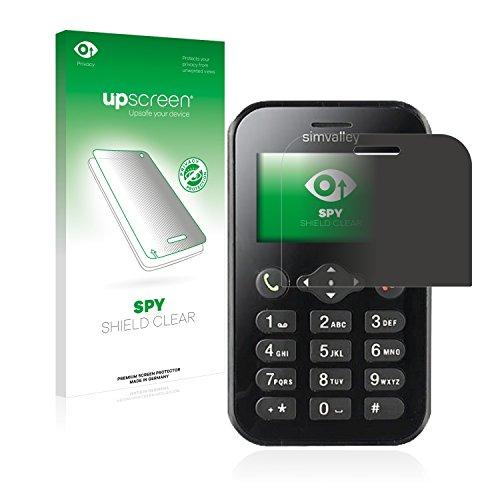 upscreen Anti-Spy Blickschutzfolie kompatibel mit Simvalley Mobile RX-484 Pico Privacy Screen Sichtschutz Bildschirmschutz-Folie