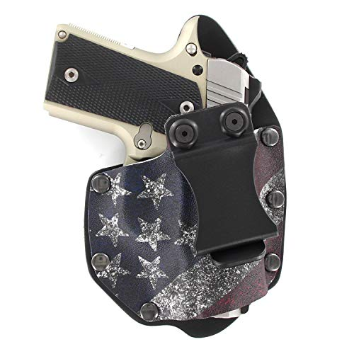 Infused Kydex USA Slanted Flag IWB Hybrid Concealed Carry Holster (Right-Hand, Kimber Micro 9mm)