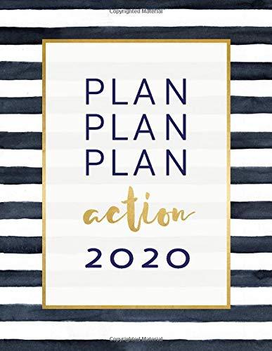 2020: Agenda Motivazionale - Planner Calendario, Journalier Annuale, Mensile e Settimanale con To Do List + 45 Pagine Griglia a Punti - Agende Giornaliera Notebook Journal A4, Gennaio - Dicembre
