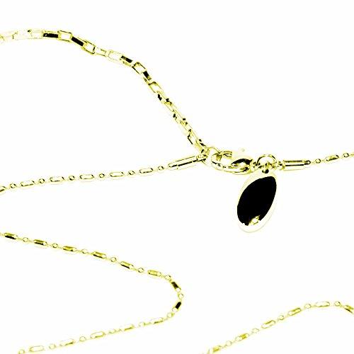Glieder Magnet Halskette Gold Energetix 4you 537 24k vergoldet mit Magnetix Magnetplättchen 418 Länge 38,5 bis 46,5 cm