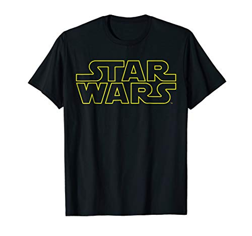 Star Wars Simple Logo Outline Graphic T-Shirt