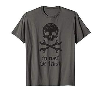 Skull - Rat Rod T-Shirt / Custom Car Builder Mechanic T-Shirt
