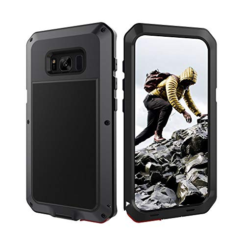 Beeasy Coque Samsung Galaxy S8 Plus, Antichoc [Métal Lourde] Sans Protecteur d'Ecran, Protection Militaire Robuste, Heavy Duty Rigide Solide Étui pour Samsung S8+, Noir