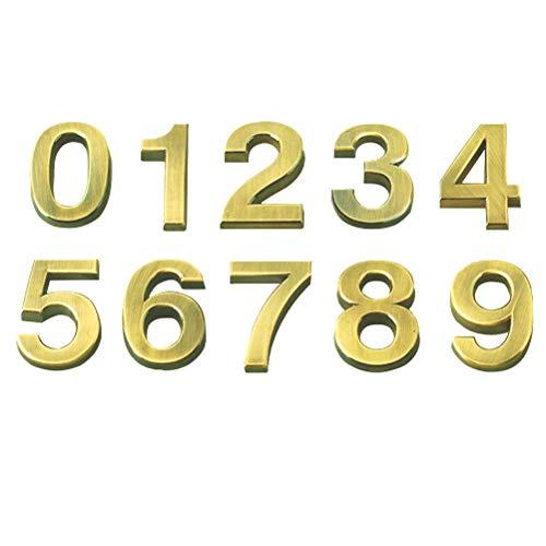 VOSAREA 10pcs Signo número estereoscópico Número
