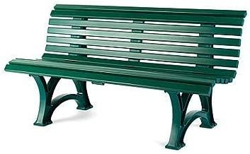 German-Made, Weatherproof Resin Garden Bench, in Green