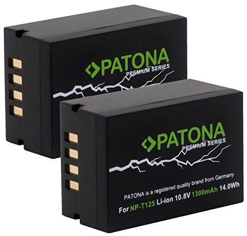 PATONA Premium (2X) Ersatz für Fujifilm NP-T125 Hochleistungsakku 14.0Wh - GFX 50S GFX 50R GFX 100