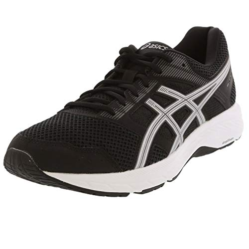 ASICS Women's Gel-Contend 5 Running Shoes, 8.5M, Black/Silver
