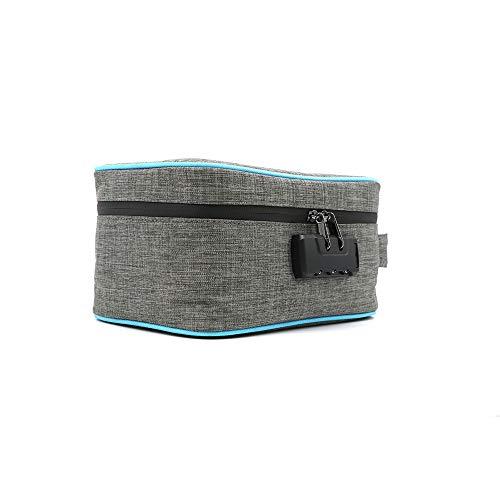 OurLeeme Stashic Rolling Box, Geruchssichere Tasche, Verschliessbares Behältnis, Geruchsabsorbierendes Aktivkohle Innenfutter, Bewahrt Eure Rauchutensilien geruchssicher 22x14x11,5 cm