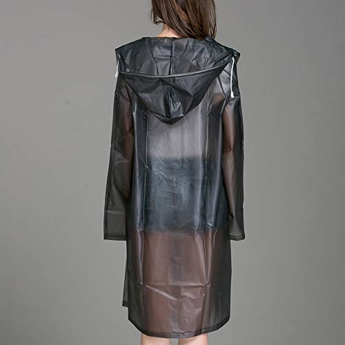 5Pcs Lange Regenmantel Frauen Regen Mantel Frauen Regen Jacke Outdoor Transparent Wasserdicht Winddicht Outwear,M