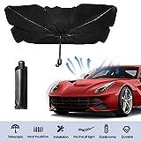 Ombrello parasole per parabrezza per auto con raggi UV e protezione per visiera per coperture per parabrezza auto Camion Le auto si adattano alla maggior parte dei veicoli (piccola)