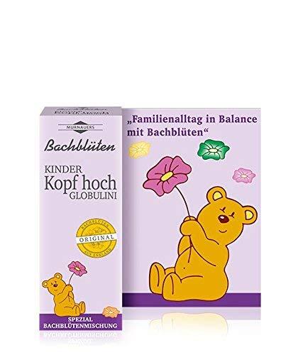 Bachblüten Kinder Kopf hoch Globuli Spar-Set 2x10g. Für Ausgeglichenheit, Trost und Ermutigung, besonders für Schulkinder geeignet
