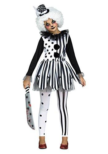 Fun World Big Girl's Killer Clown Girls Children's Costume, Multicolor, Large 121512L