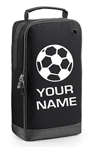 Personalisierbare Fußballschuh-Tasche mit Tragegriff–Fußball -Motiv -