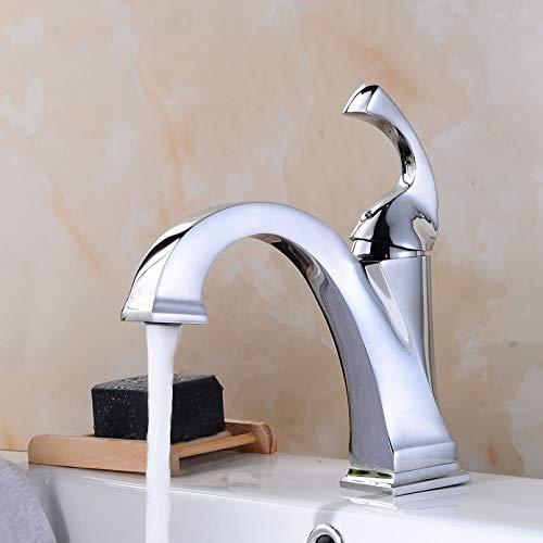 YHSGY Grifo De Lavabo De Baño Mezclador De Lavabo Grifo De Agua Fría Y Caliente Grifos De Lavabo De Baño Color Blanco