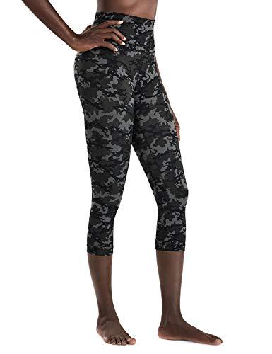 CRZ YOGA Damen Yoga Capri Leggings Sport Hose mit Hoher Taille-Nackte Empfindung -48cm Camo Multi 1 19'' - R418 42
