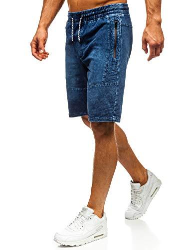 BOLF Herren Kurzhose Jeanshose Sporthose Casual Short Hose Nature 5786 Dunkelblau 3XL [7G7]