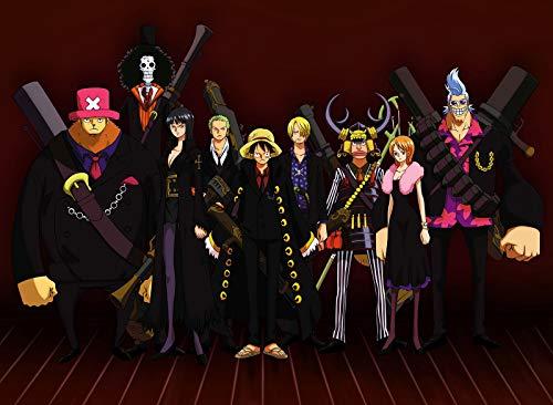 ZKPZYQ Puzzle clásico de 1000 piezas para adultos exigentes Anime One Piece para adultos y niños a partir de 14 años