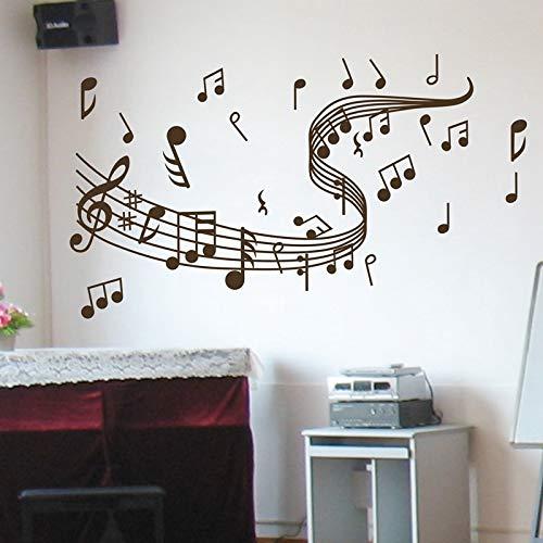 Amazon Venta caliente de gran tamaño Music Note Tatuajes de pared de Graffiti Pegatinas de pared Arte Decoración para el hogar