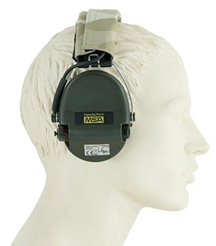 MSA Sordin Supreme Pro X Casques Anti Bruit Electronique | ACE-Edition (Desert Camo, Capsules Vertes) | Protection Auditive | Actif | pour la Chasse et Les Tireurs Sportifs | + AUX