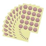 Pegatinas de Pared Puntos,200pcs Circulares Lunares Adhesivos Decorativos Sticker Pared para Habitación de Niñas Guardería Jardín de Infantes y Dormitorio de Niños, Oro Rosa
