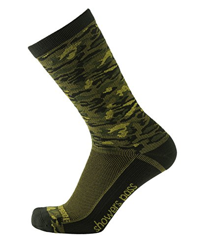 Showers Pass 100% Waterproof Breathable Lightweight Multisport Unisex Socks (Forest Camo - Large/X-Large)