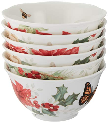 Lenox Butterfly Meadow 6-Piece Holiday Rice Bowl Set