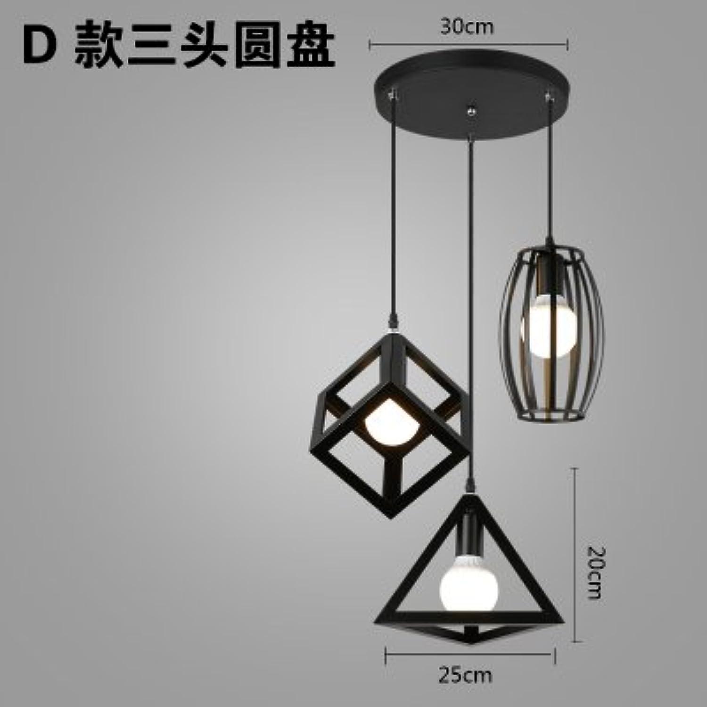 Luckyfree Kreative Moderne Mode Anhnger Leuchten Deckenleuchte Kronleuchter Schlafzimmer Wohnzimmer Küche, Drei-Kopf-Drei-Warm-Kronleuchter.