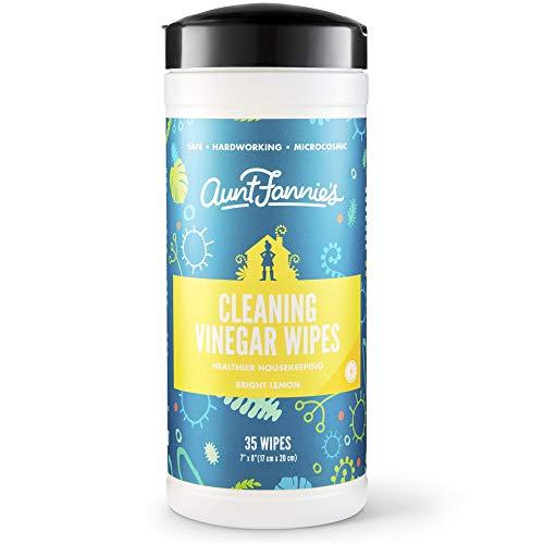 Aunt Fannie's Cleaning Vinegar 35 Count Wipes (Single Pack) (Bright Lemon)