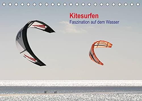 Kitesurfen – Faszination auf dem Wasser (Tischkalender 2022 DIN A5 quer)