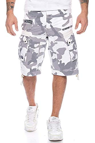 Geographical Norway Hombre Cargo Short People - White Camo, S