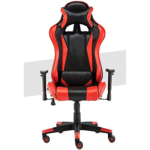 Gaming Stuhl, Gemütlich Aufzug Drehstuhl Bürodrehstuhl High Back Heavy Duty-Computer-Schreibtisch-Stuhl Recliner Sport Racing Stuhl Ergonomischer Stuhl (Color : A)