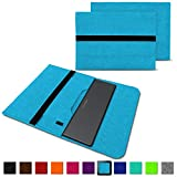 NAUC Schutzhülle kompatibel für Medion Akoya E3222 Tasche Hülle Filz Sleeve Notebook Cover Case Etui, Farben:Türkis