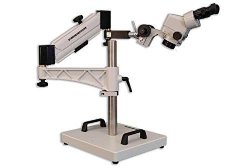 MEIJI TECHNO AMERICA EMZ-13+MA502+FSC+SAS-4 Binocular Zoom Stereo Body Eyepiece, Inclinable Coarse and Fine Focusing Slide Block, Heavy Duty Stand (Pack of 4)