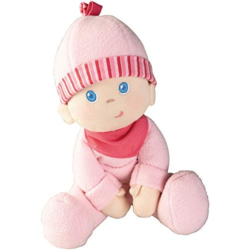 HABA Snug-up Dolly Luisa 8' My First Baby Doll - Machine Washable and Infant Safe for Birth and Up