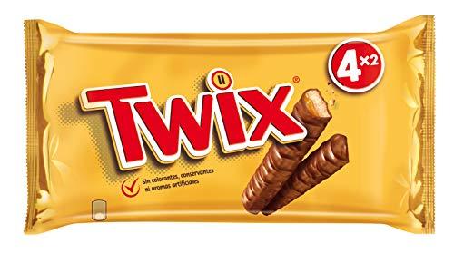 Twix Barritas de Galleta y Caramelo Cubiertas de Chocolate, 4 uds