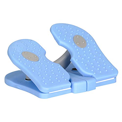 MBB Mini Stepper,Under Desk Pedal Exerciser,Folding Colorful Foot Peddle,Physical Therapy Leg Exercisers Peddle,Relieves Varicose Veins Sky Blue Color