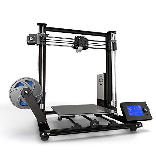 Anet A8 Plus Stampante 3D Fai-Da-Te Aggiornata ad Alta Precisione Assemblaggio Automatico 300 * 300 * 350mm Stampa di Grandi Dimensioni Telaio in Lega di Alluminio Pannello di Controllo LCD