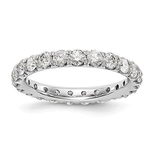 Anello Eternity a fascia in oro bianco 14 ct con diamanti coltivati in laboratorio, VS/E 2,07 cttw per le donne